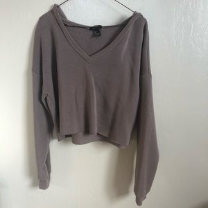 hoddie crop top
